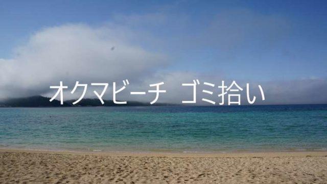 オクマビーチ ゴミ拾い