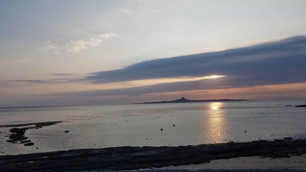 備瀬崎の夕日